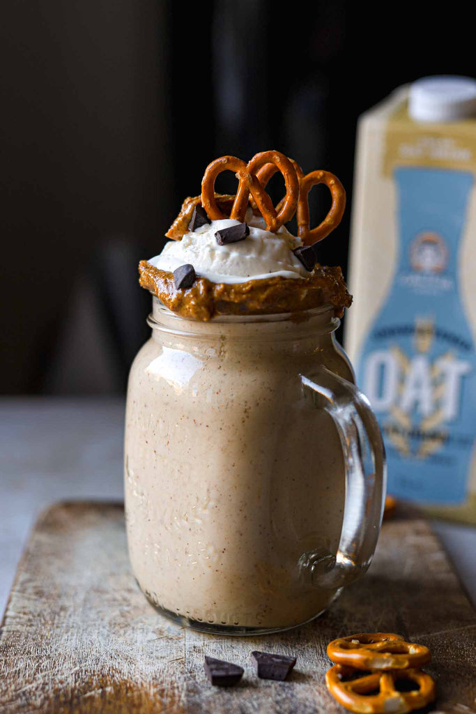 Pretzel and Vanilla Oat Shake