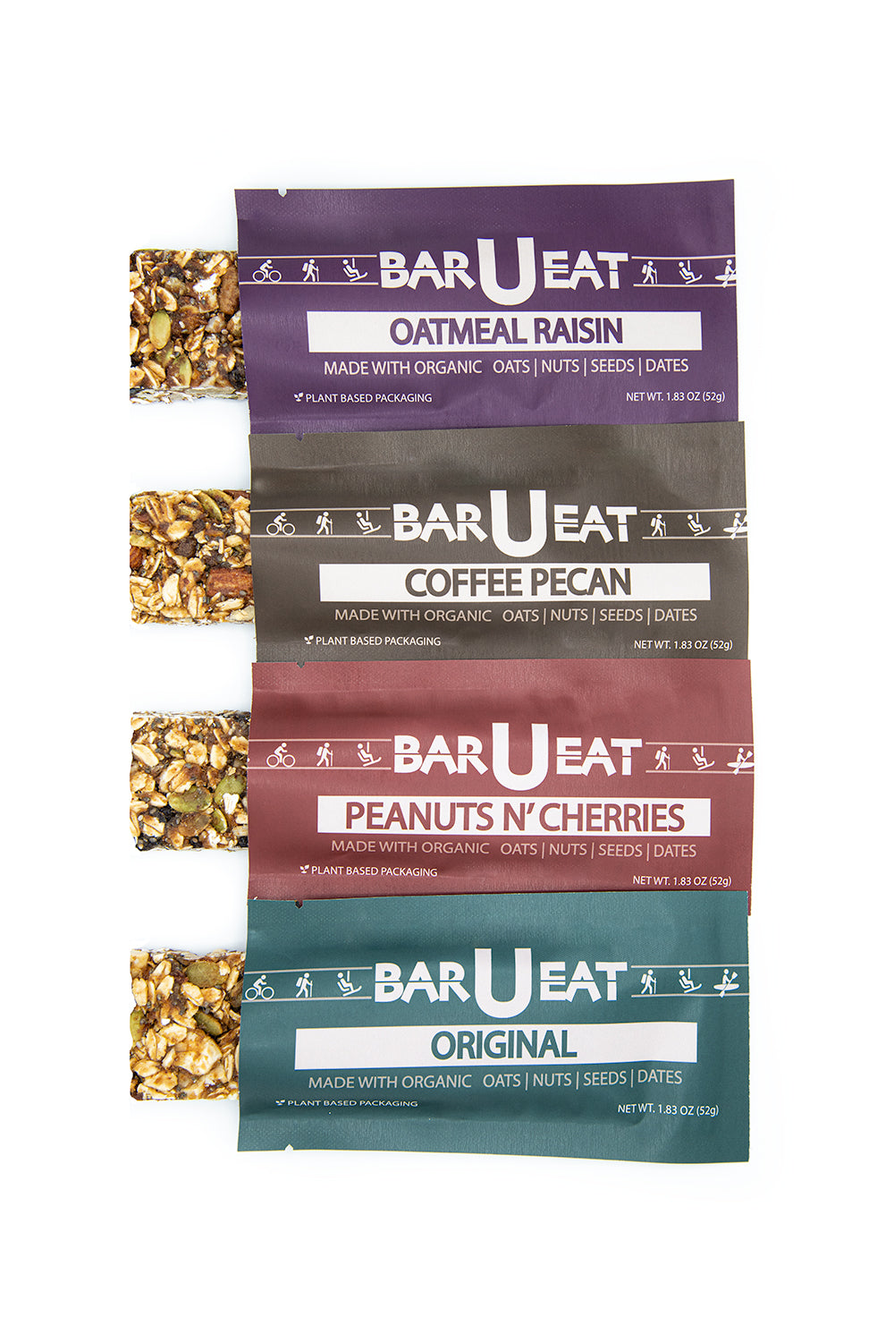 organic granola bar sustainable plant based packaging compostable healthy simple whole ingredients