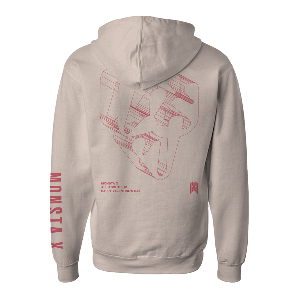Monsta X Dimension Pullover Hoodie Natural-Monsta X