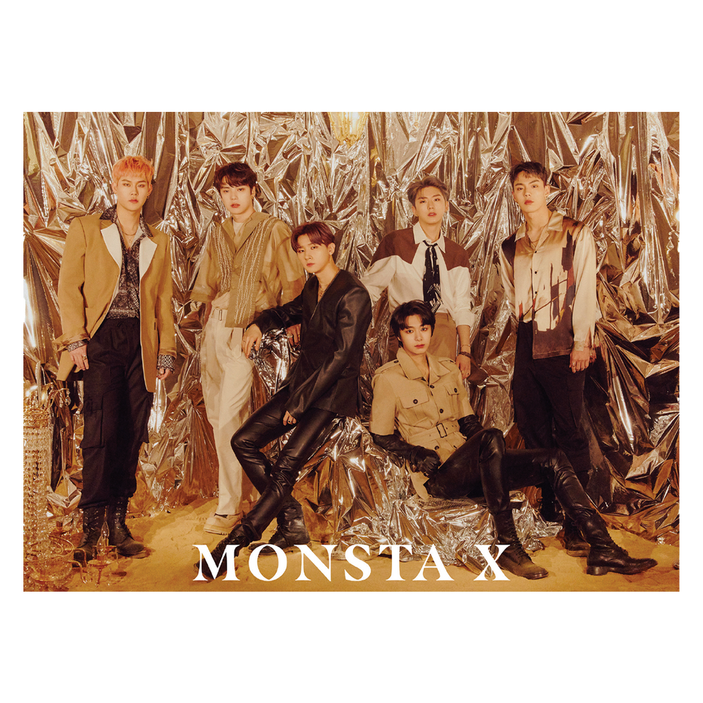 Monsta X Golden Hour Poster + Digital Album-Monsta X