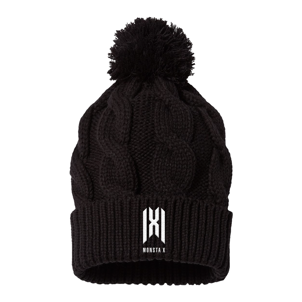 Monsta X Cable Knit Pom Beanie