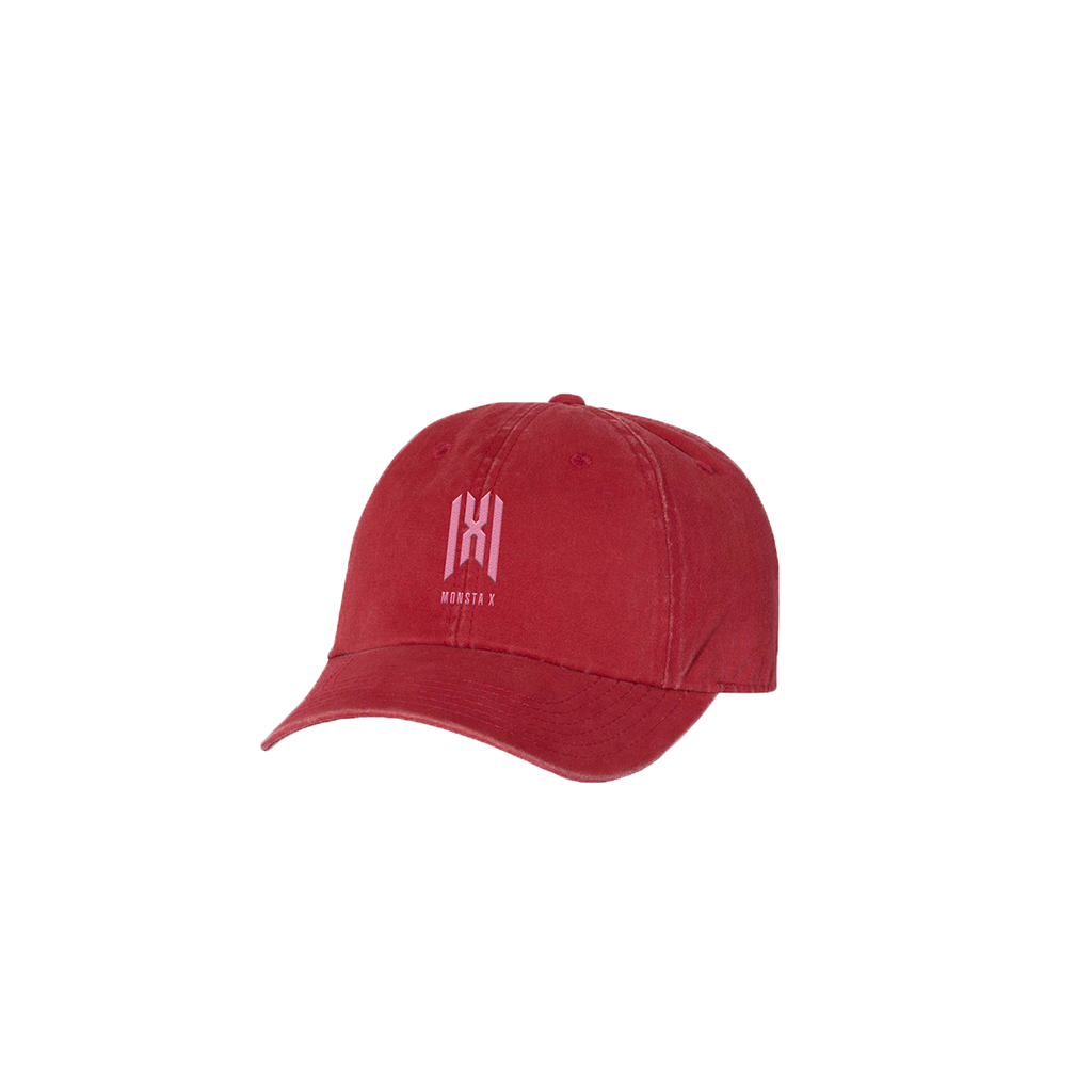 Monsta X Embroidered Logo Cap - Red-Monsta X