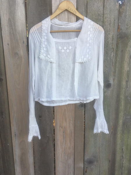 Victorian White Lace Cotton Blouse