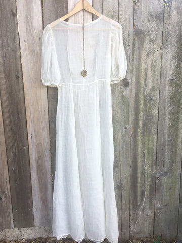 Long White Lovely Victorian Dress