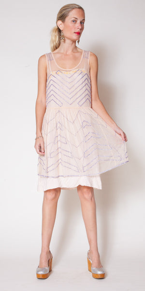 Pale Pink Beaded Dress