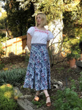 Indian Batik 70s Wrap Skirt
