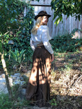 Fall Victorian Skirt for My Sundays in The Park