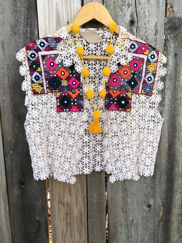 Gypsy Traveler Vintage Embroidered Vest