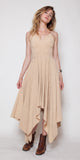 1970's Long Tan Fall Dress
