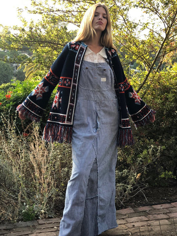 1970s Navajo Design Fringe Sweater
