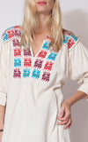 Oaxacan Embroidered Colorful Tunic