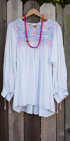 Guatemalan Embroidered Blouse
