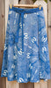 Blue and White Batik Wrap Skirt