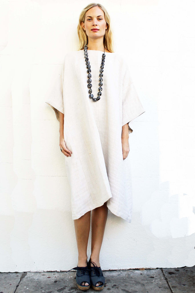 Cream Hemp Dress from Vietnam