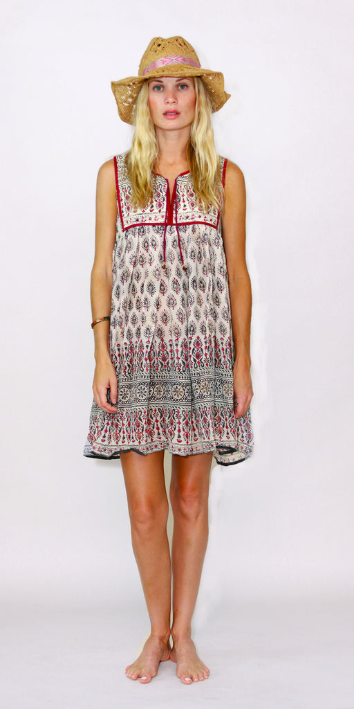Red Indian Cotton Dress