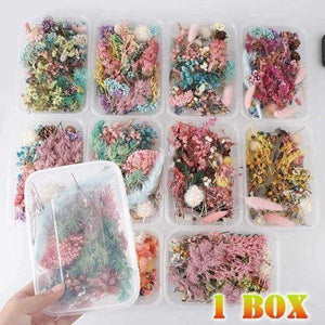 15pcs Real Dried Flowers for Craft Jewelry Making DIY Necklace Pendants 25mm