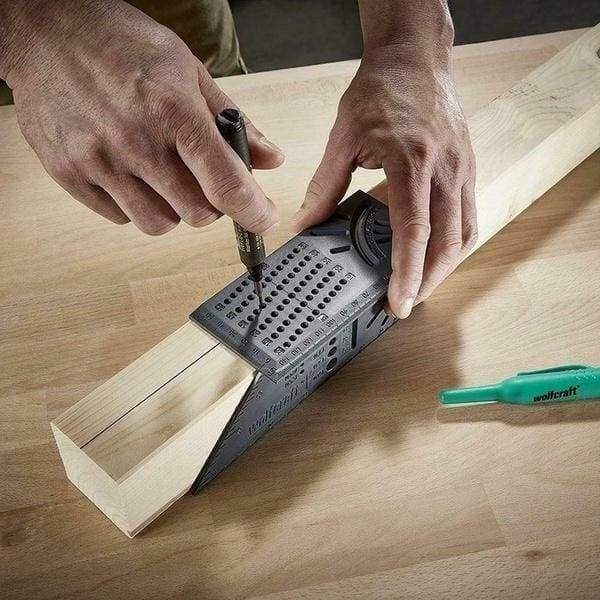 3D Mitre Angle Measuring Square Size Measure tool With Gauge /& Ruler Efficient