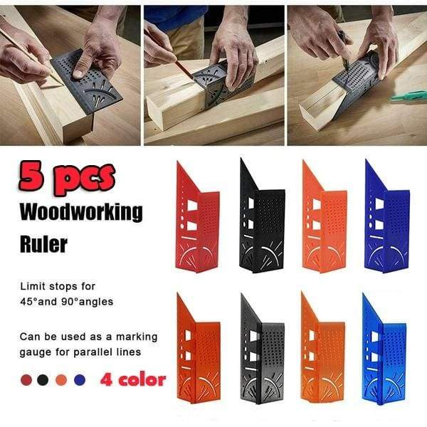 3D Mitre Angle Measuring Square Size Measure Tool With Gauge And Ruler 90°