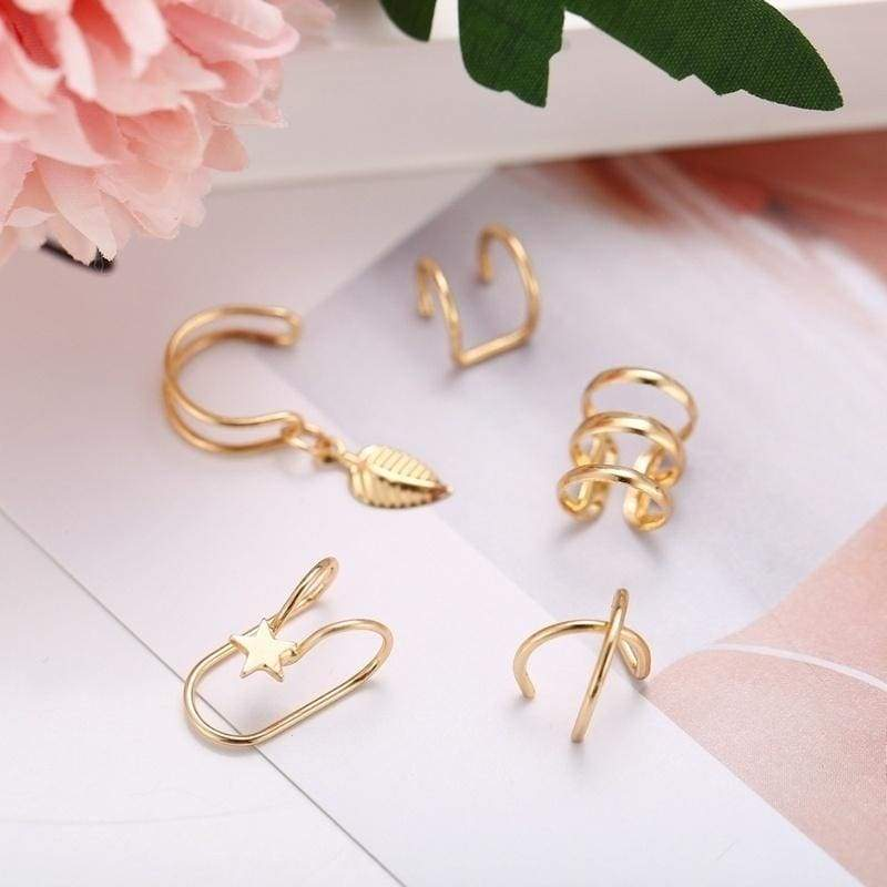 Clip on Snowflake Earring Clip for non Pierced Rhinestone White Gold Plated for teen for Girl