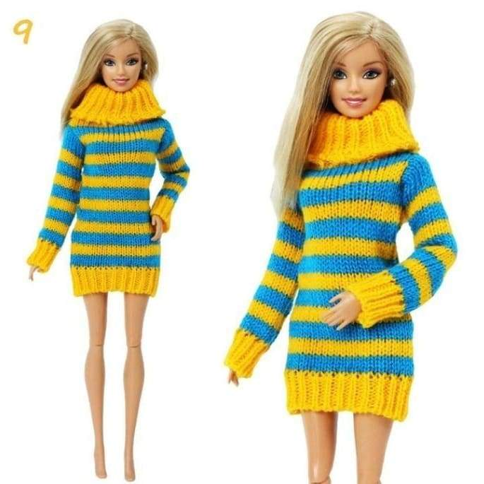 1set party doll clothes accessories doll top dress for boys girls best gift xk