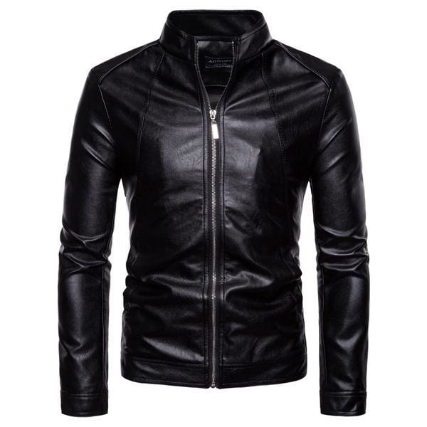 Fishing Waterproof Jackets for Men.Fashion Mens Autumn Winter Casual Pocket Button Thermal Leather Jacket Top Coat