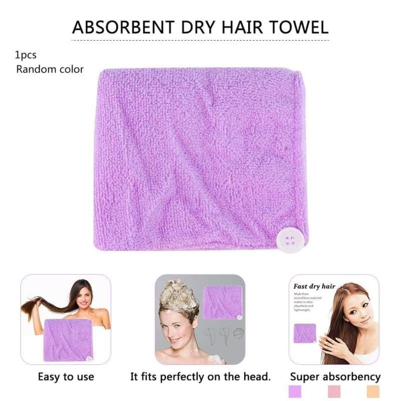 Microfibre Quick Dry After Shower Spa Hair Drying Wrap Towel Head Hat Cap Turban