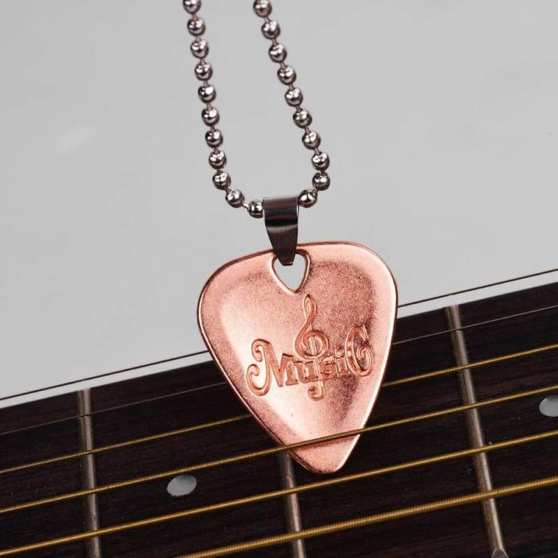 Popcorn Guitar Pick Necklace Unique Custom Fashion Pet Card Keychain