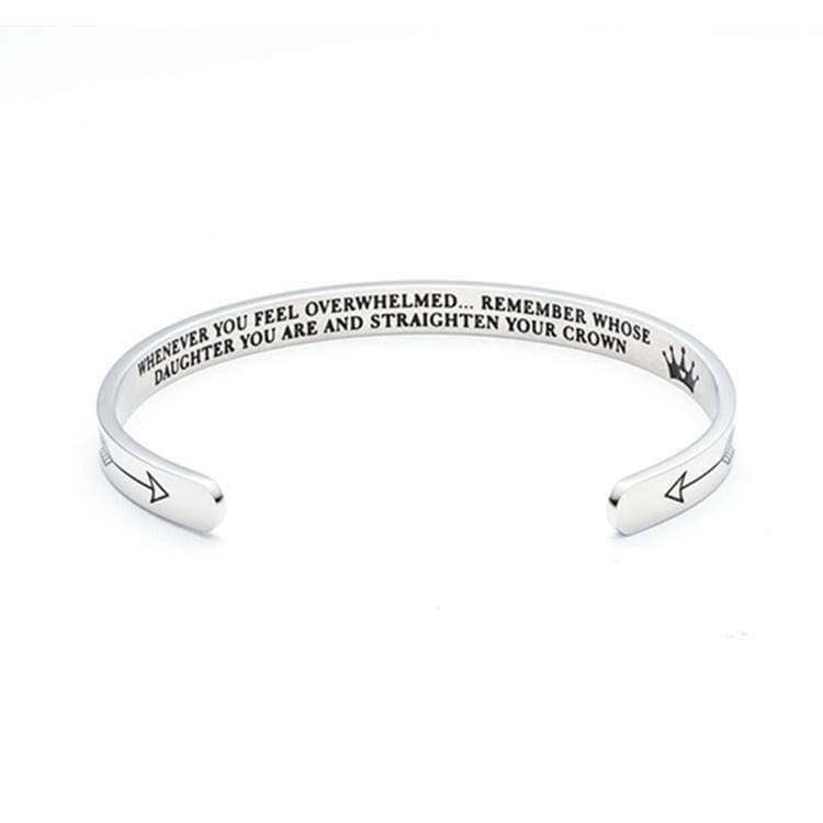 Live for Moments Personalized Creative Letters Engraved Bracelet Travel Gift Birthday Gift Silver Metal Bangle for Best Friend