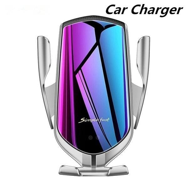 Wireless Car Charger Mount 10W 3.0 Car Charger Air Vent Phone Holder Fast Charging Automatic Clamping Smart Sensor Windshield Dashboard 360/°Rotation Compatible with iPhone Xs MAX XS XR Samsung S9
