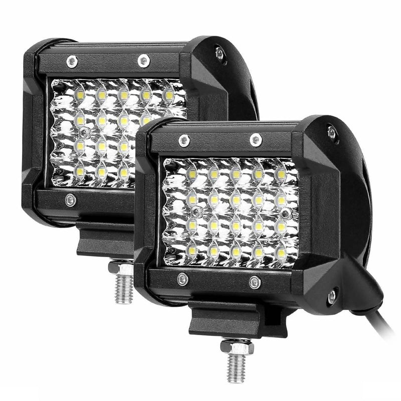 72W 4 INCH LED WORK LIGHT BAR -Pack of 2 - Local Kiwi Deals