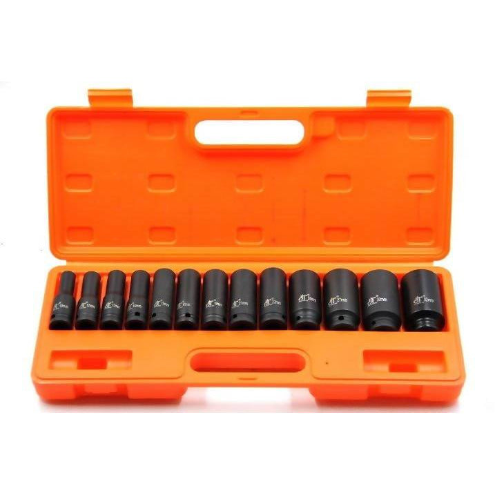 Deep Socket Set Black Impact 13Pcs - Local Kiwi Deals