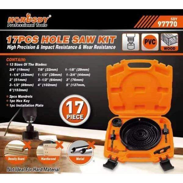 Hole Saw Set 17 pcs - Local Kiwi Deals