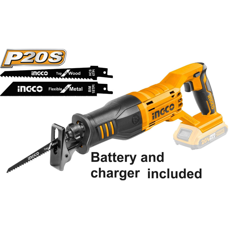 Reciprocating Saw Lithium-Ion 20V INGCO - Local Kiwi Deals