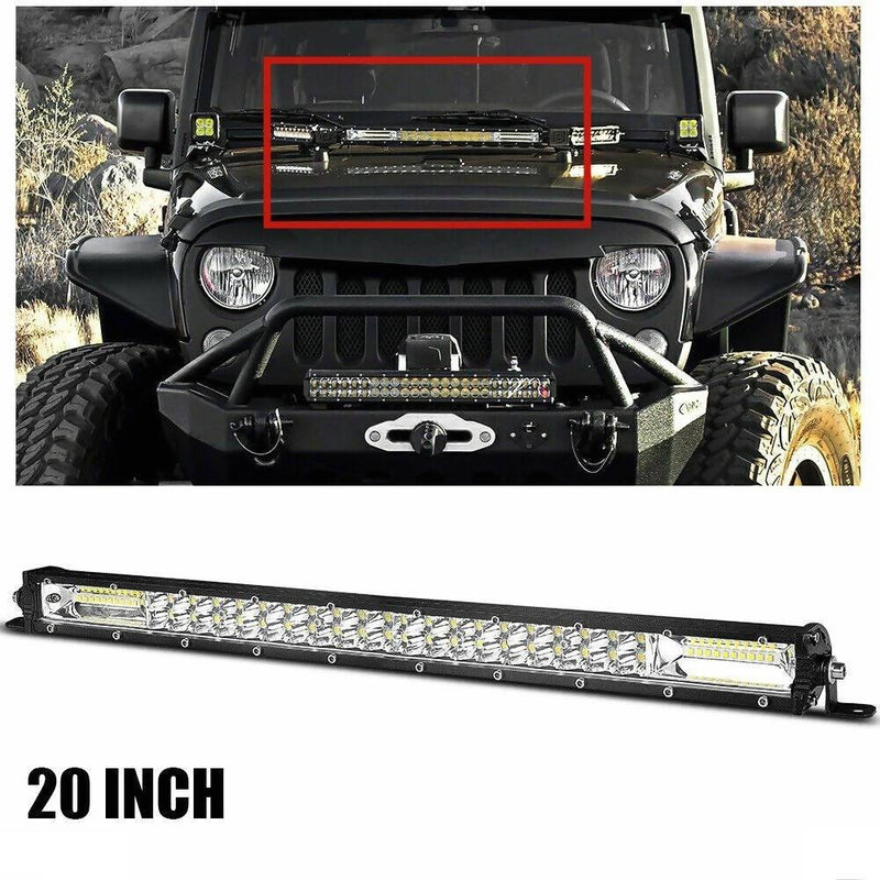 180W 20 Inch Double Row Slim LED Work Light Bar Offroad - Local Kiwi Deals