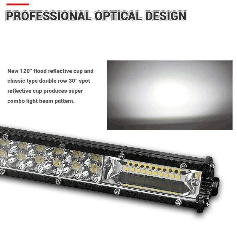 300W 32 Inch Double Row Slim LED Work Light Bar Offroad - Local Kiwi Deals