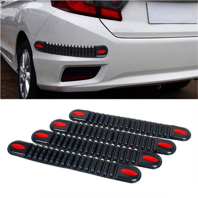 4PCS Car Rubber Bumper Protector Corner Guard Scratch Sticker Pad Black - Local Kiwi Deals