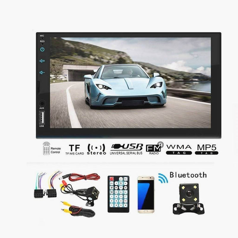 7 Inch 2 Din Stereo Car MP5 Player bluetooth Radio FM USB AUX + Camera - Local Kiwi Deals