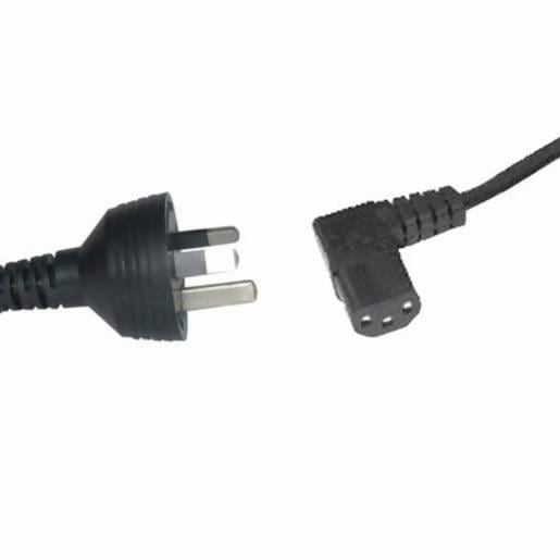 0.5m Cable - 3pin Mains Plug to IEC C13 Right Angle Female - Local Kiwi Deals