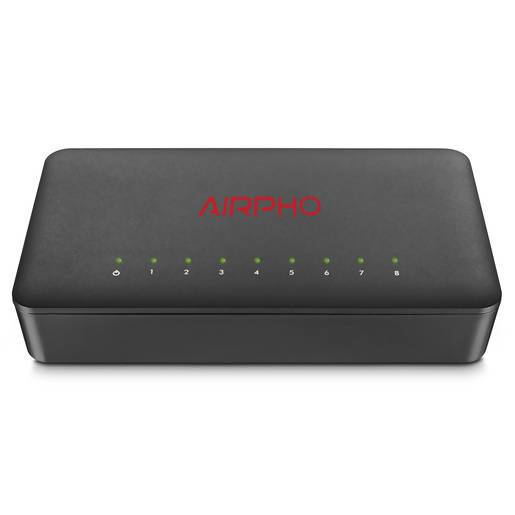 AIRPHO 8 Port Gigabit Ethernet Switch - Local Kiwi Deals