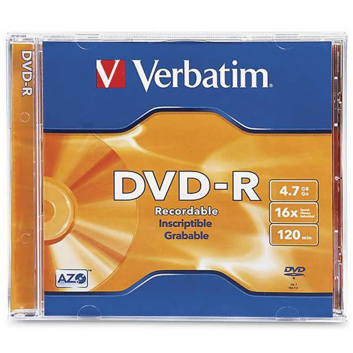 Verbatim DataLifePlus (Azo) DVD-R 4.7 GB Jewel Case Singles 16x - Local Kiwi Deals