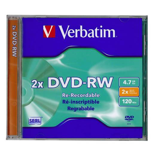 Verbatim DatalifePlus (SERL) DVD-RW 4.7GB Jewel Case Singles 2x - Local Kiwi Deals