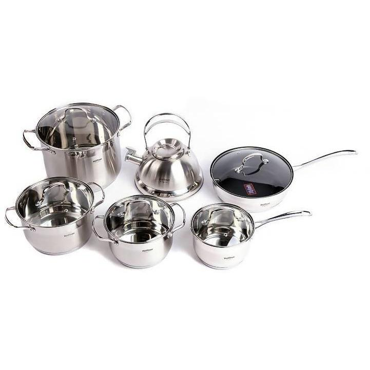 COOKWARE SET HOFFNER ELEGANCE 12 PCS HIGH QUALITY - Local Kiwi Deals