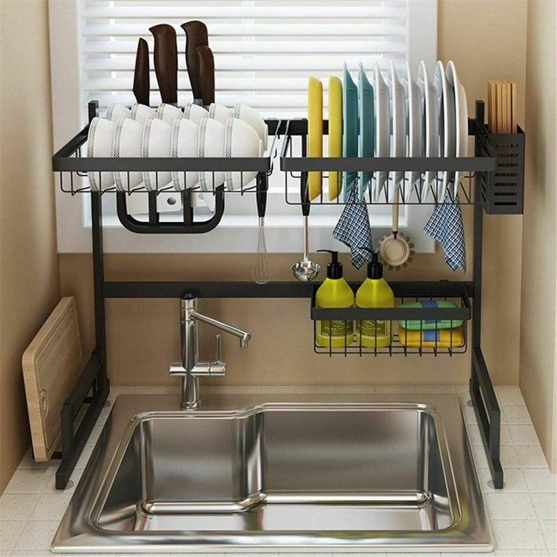 Single Sink Rack Dish Drainer for Kitchen - Local Kiwi Deals