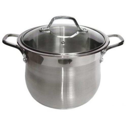 Stock Pot Stainless Steel Heavy Duty 19.3L - Local Kiwi Deals