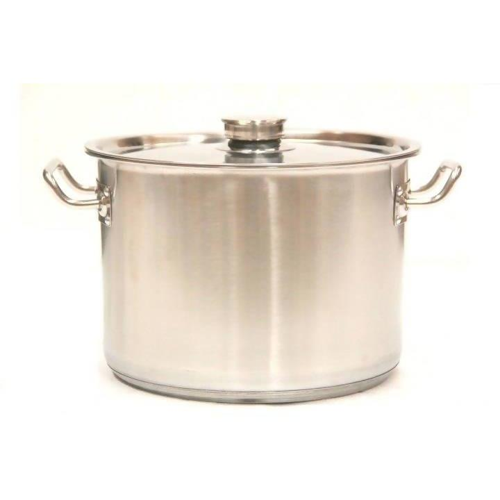 Stock Pot with Lid Stainless Steel Commercial 63L - Local Kiwi Deals