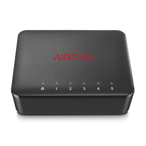 AIRPHO 5 Port Gigabit Ethernet Switch - Local Kiwi Deals