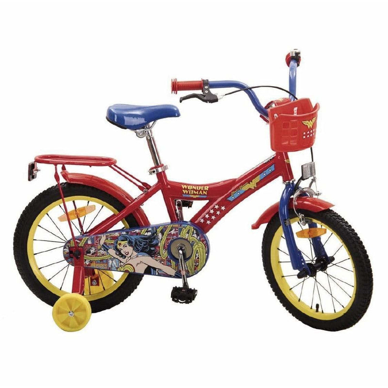 "Wonder Woman Bike 16"" Bicycle with Training Wheels - Local Kiwi Deals"