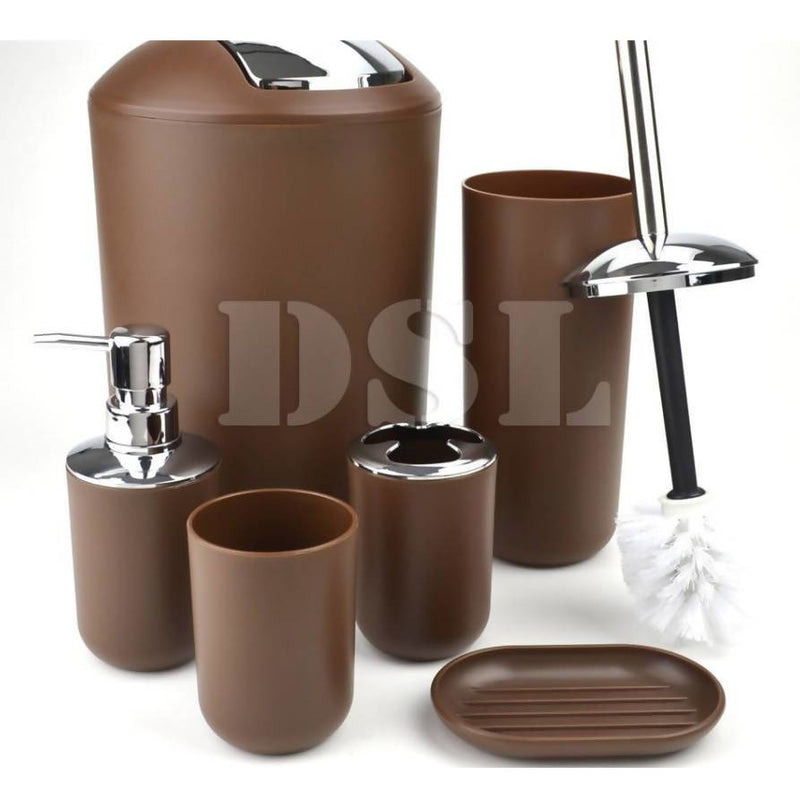Bathroom Accessory Set BROWN - Local Kiwi Deals