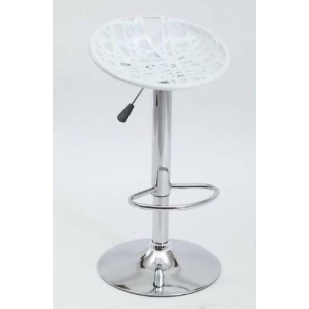 Bar Stool Contemporary 3pcs White - Local Kiwi Deals