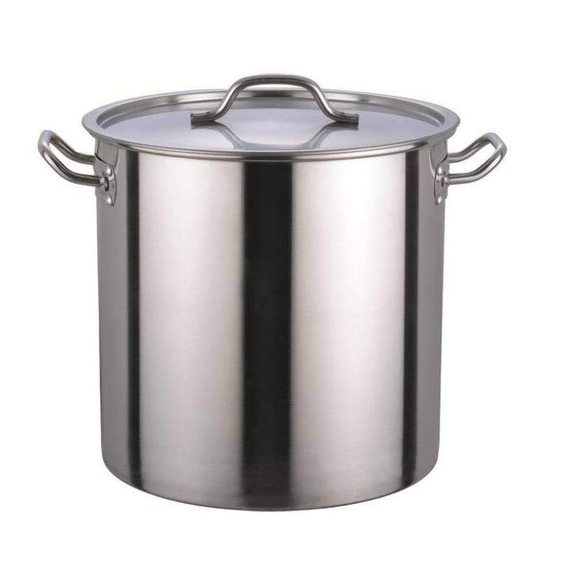Commercial Stock Pot with Lid Stainless Steel 150L - Local Kiwi Deals